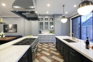 Beatrice black and blue painted custom kitchen 06