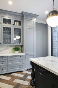 Beatrice black and blue painted custom kitchen 11