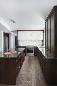 Dalkeith dark wood kitchen with custom porcelain hood 08