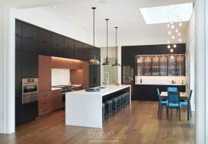 Dianne black and dark wood custom kitchen 01