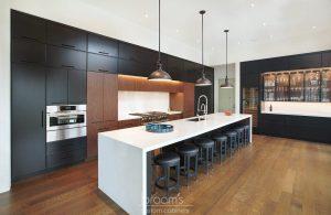 Dianne black and dark wood custom kitchen 02