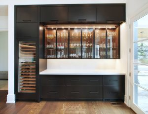 Dianne black and dark wood custom kitchen 03