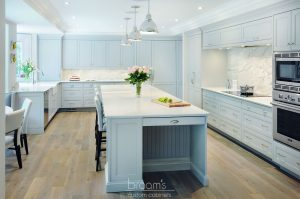 Ennisclare mint painted transitional kitchen 01