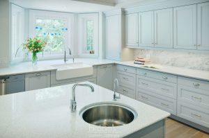 Ennisclare mint painted transitional kitchen 03