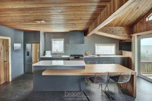 Forsyth grey custom kitchen with gold hardware 02