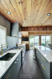Forsyth grey custom kitchen with gold hardware 04
