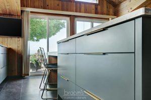 Forsyth grey custom kitchen with gold hardware 05