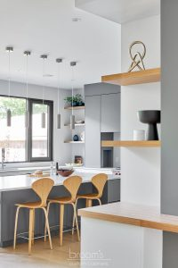Fourth grey and natural wood custom kitchen 04