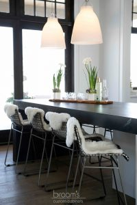 Heritage white painted custom cabinets with black countertop 07