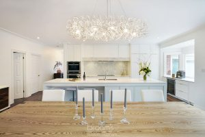 Hunt Club white painted custom kitchen with gold hardware 07