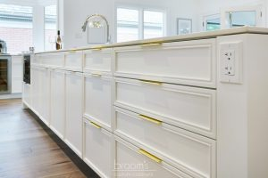 Hunt Club white painted custom kitchen with gold hardware 11