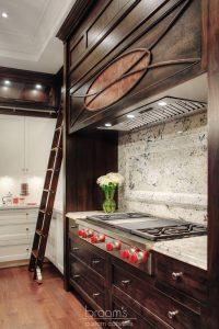 Hush white and dark wood traditional custom kitchen 04