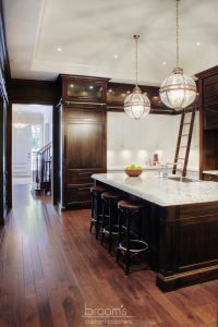 Hush white and dark wood traditional custom kitchen 06