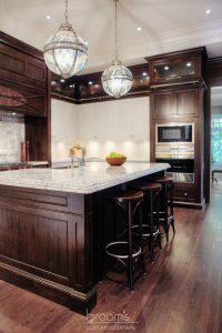 Hush white and dark wood traditional custom kitchen 07
