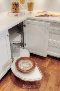 Hush white and dark wood traditional custom kitchen 09