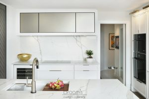 King small white painted kitchen with custom pantry 22