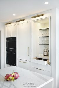 King small white painted kitchen with custom pantry 23