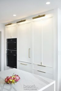 King small white painted kitchen with custom pantry 24