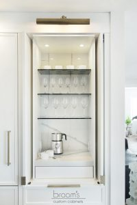 King small white painted kitchen with custom pantry 25