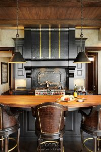 Lakehore TL black kitchen with gold accents 09 - project cover