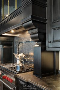 Lakehore TL black kitchen with gold accents 13