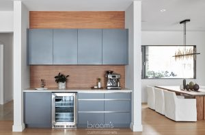 Lakeshore grey and natural wood modern kitchen 01