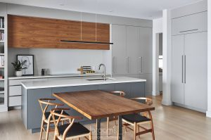 Lakeshore grey and natural wood modern kitchen 02