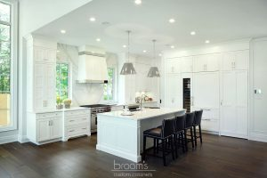 Lovers white painted transitional kitchen 13