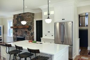 Parkhouse white painted custom kitchen with decorative legs 05