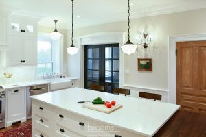 Parkhouse white painted custom kitchen with decorative legs 08