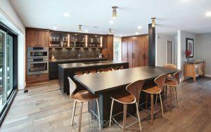 Pine Ridge black and dark wood custom kitchen 01