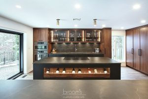 Pine Ridge black and dark wood custom kitchen 02