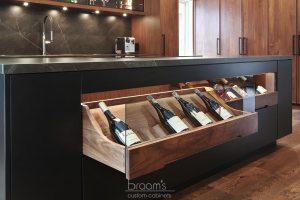 Pine Ridge black and dark wood custom kitchen 03