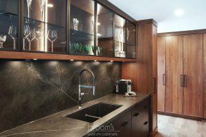 Pine Ridge black and dark wood custom kitchen 04