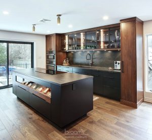 Pine Ridge black and dark wood custom kitchen 05