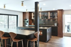 Pine Ridge black and dark wood custom kitchen 07