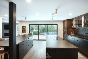 Pine Ridge black and dark wood custom kitchen 08