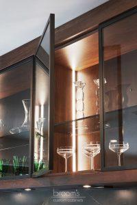 Pine Ridge black and dark wood custom kitchen 11