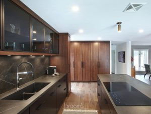 Pine Ridge black and dark wood custom kitchen 13