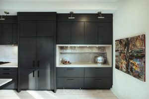 Princess black painted kitchen with exposed brick 04