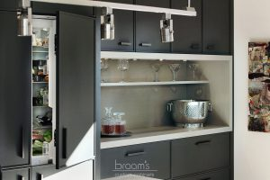 Princess black painted kitchen with exposed brick 05