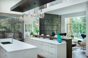 donessle white and black custom kitchen with steel accents 07