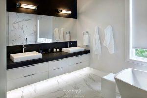 home spa monochrome modern vanity