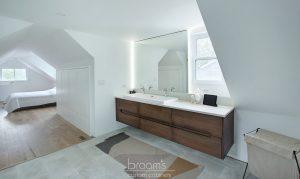 home spa natural wood custom vanity 07