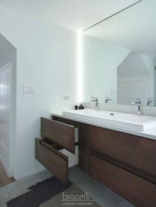 home spa natural wood custom vanity 08