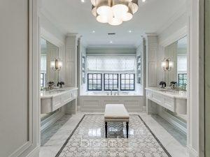 home spa white bathroom custom matching vanities 04