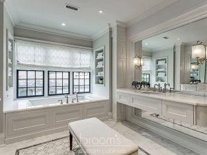 home spa white bathroom custom matching vanities 06