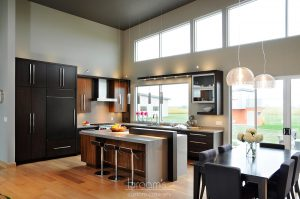mcneil black and dark wood custom kitchen 01 - project cover