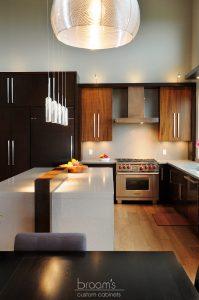 mcneil black and dark wood custom kitchen 03