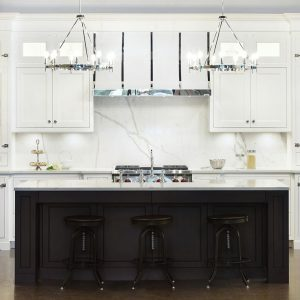 transitional white kitchen custom cabinets
